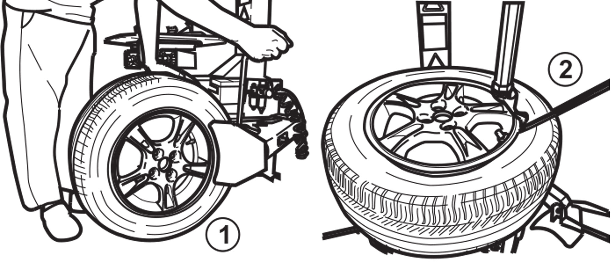 Deflate and Disassemble Tire and Wheel