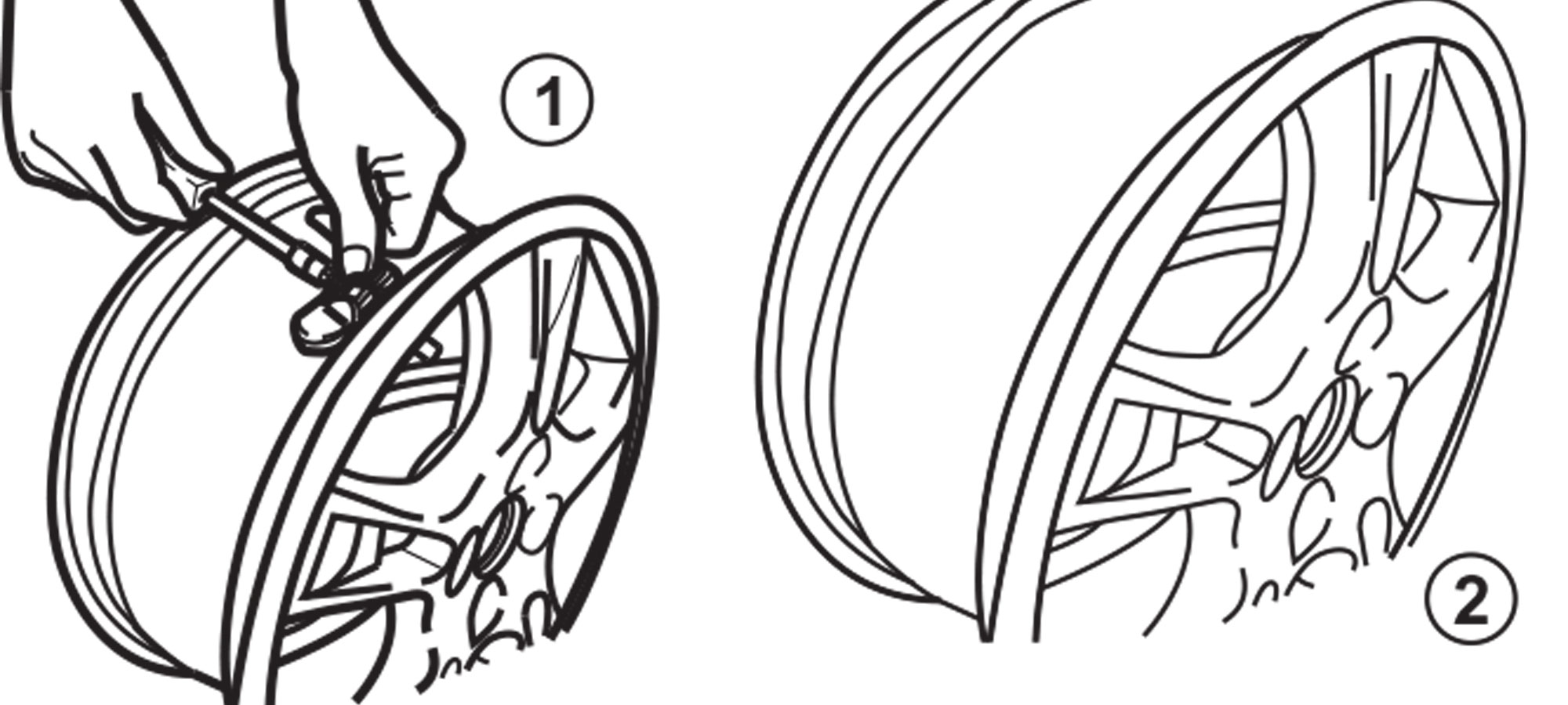Detach Sensor from Stem, Remove Stem and Inspect the Wheel