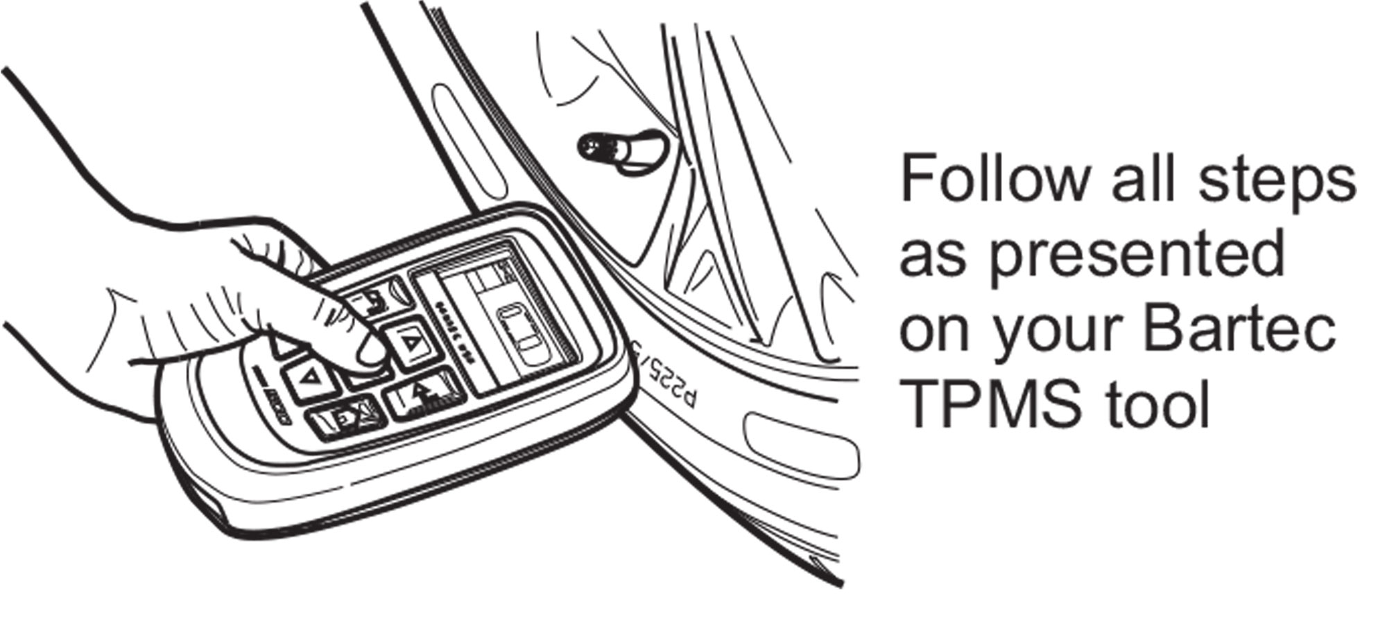 OPTIONAL!  Program RITE-SENSORS<sup>®</sup> in wheel using Bartec TPMS Tool